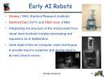 early ai robots