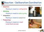 reaction deliberation coordination