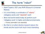 the term robot