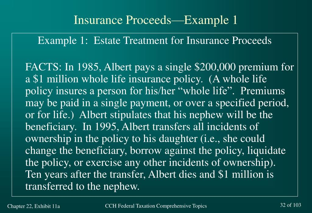 Insurance Proceeds—Example 1