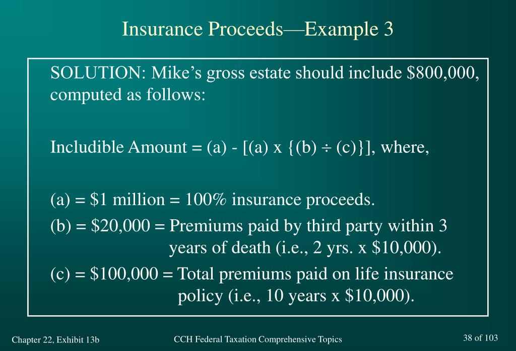 Insurance Proceeds—Example 3