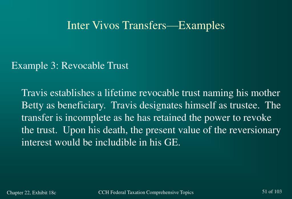Inter Vivos Transfers—Examples