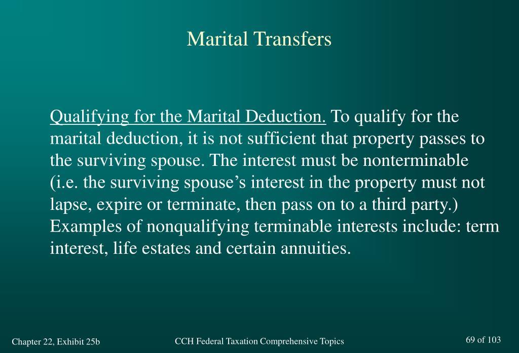 Marital Transfers