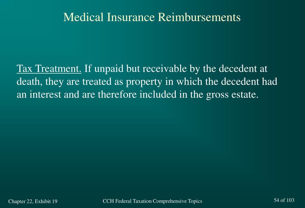 Medical Insurance Reimbursements