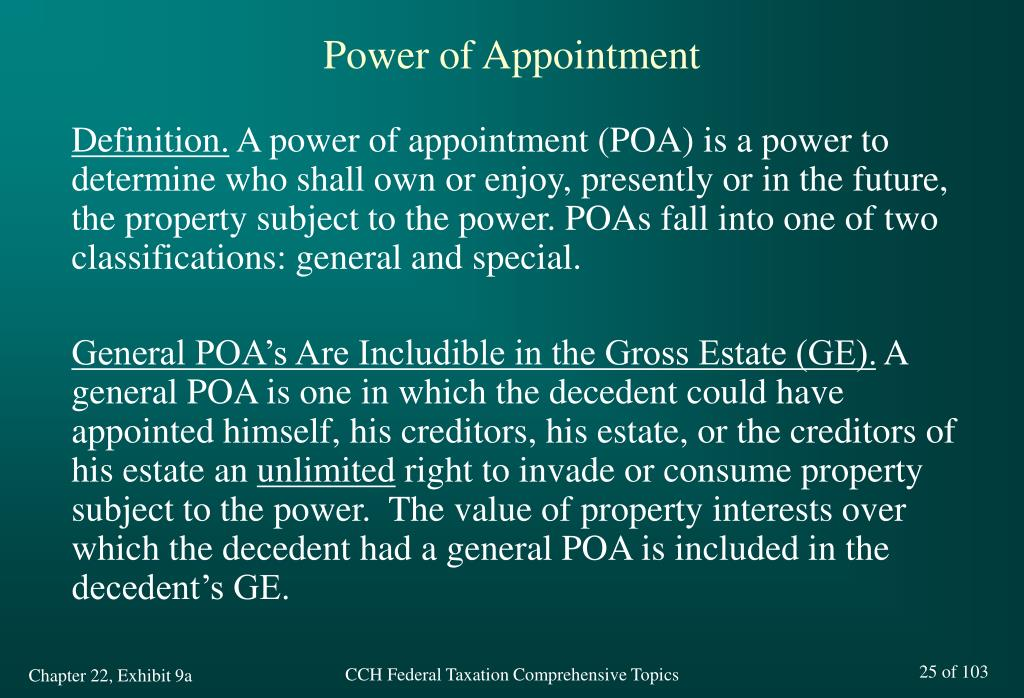 Power of Appointment