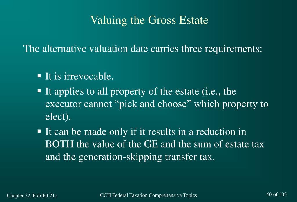 Valuing the Gross Estate