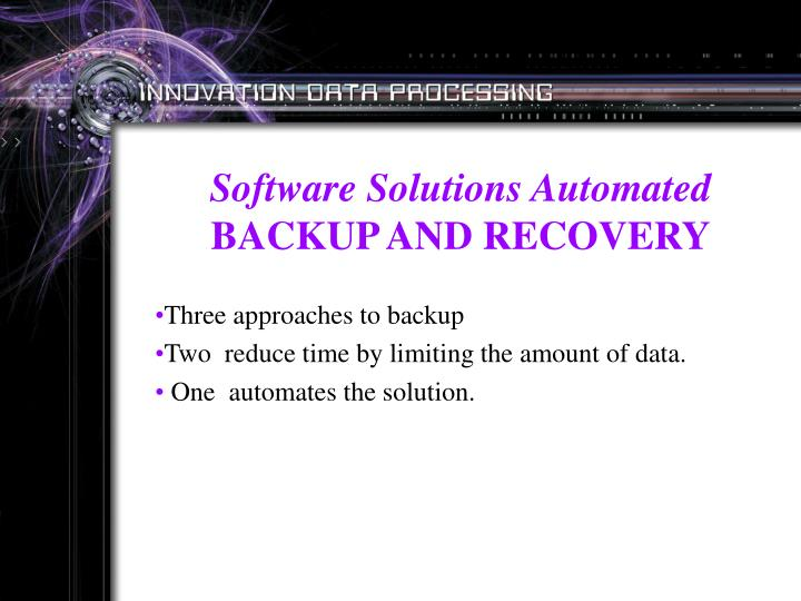 Software Solutions Automated