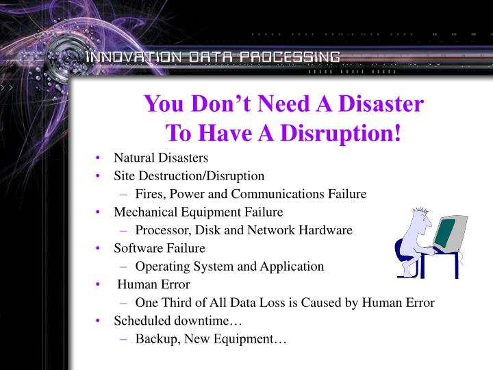 You Don't Need A Disaster