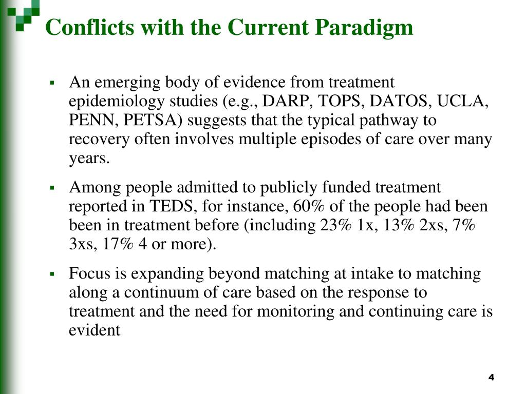Conflicts with the Current Paradigm