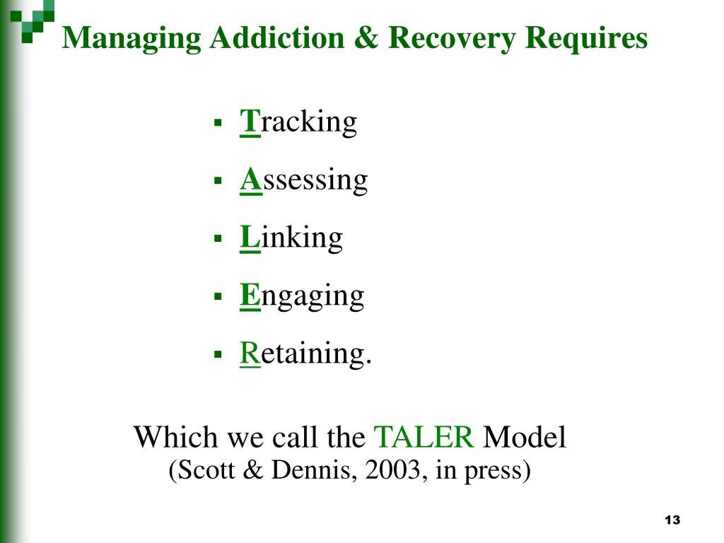 Managing Addiction & Recovery Requires