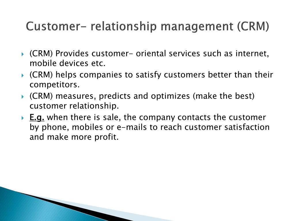Customer- relationship