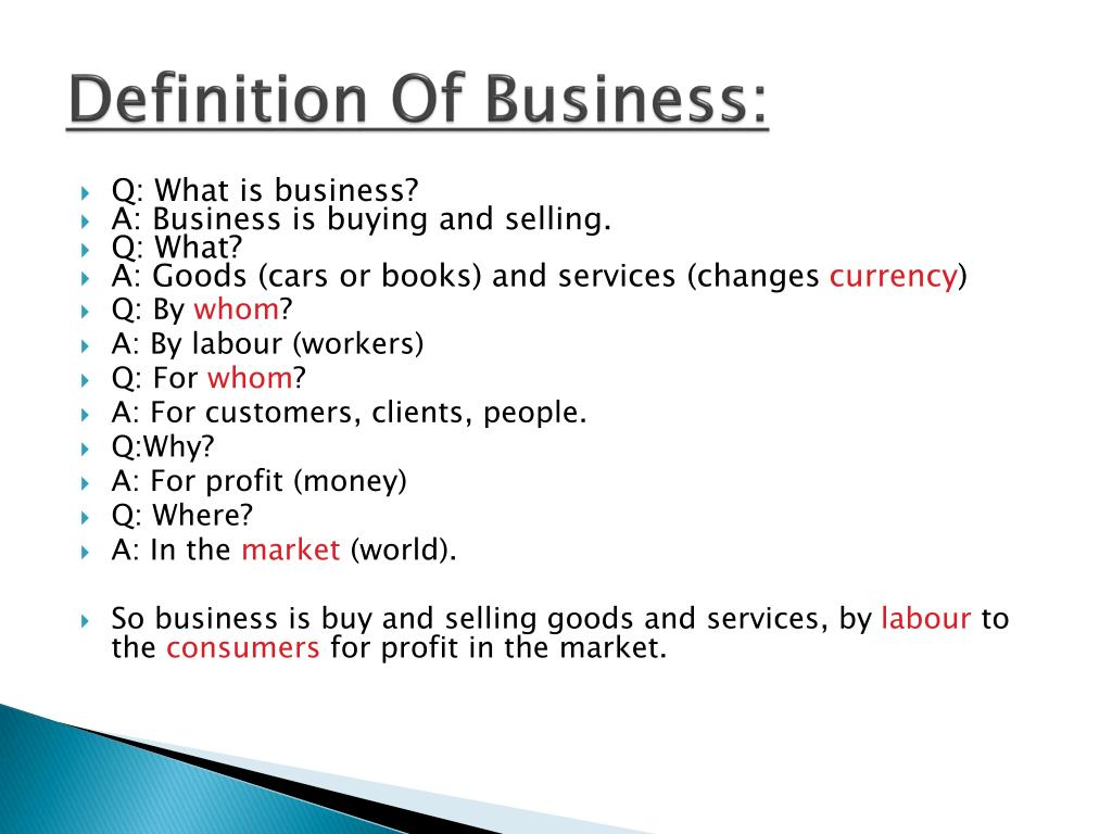 Definition Of Business: