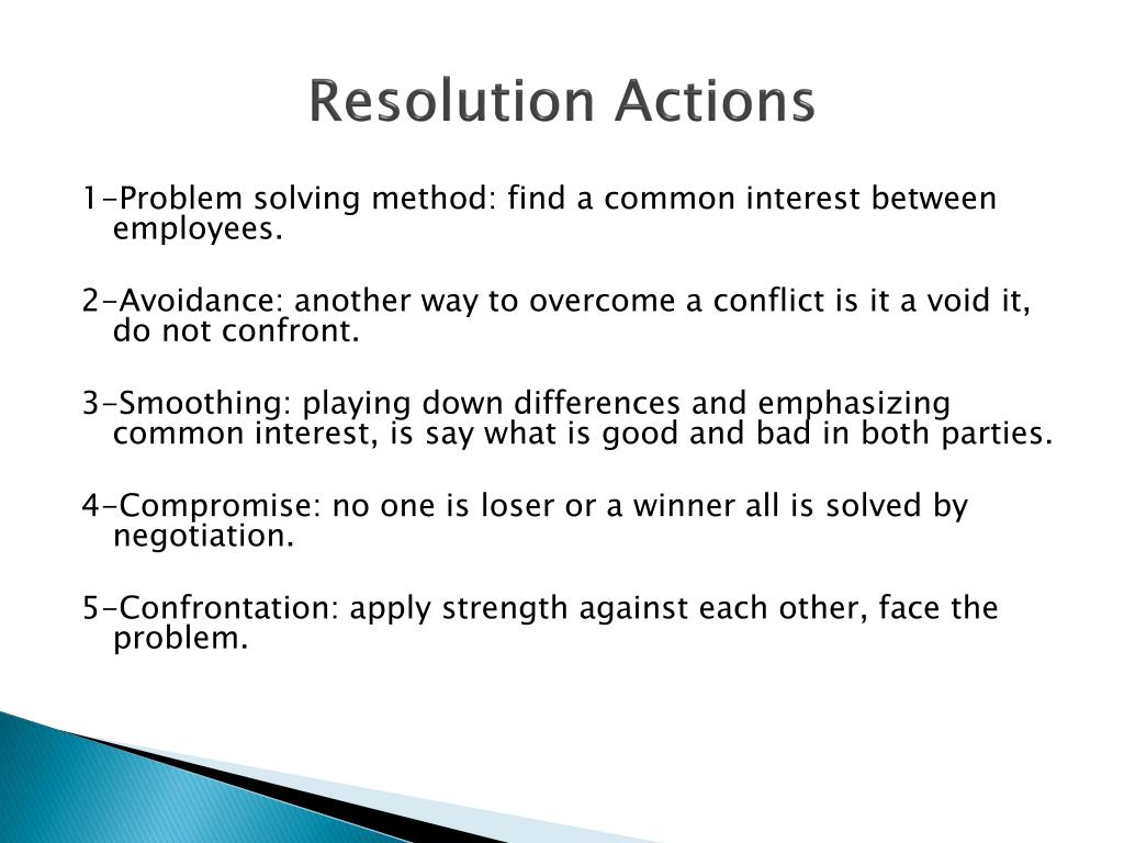 Resolution Actions