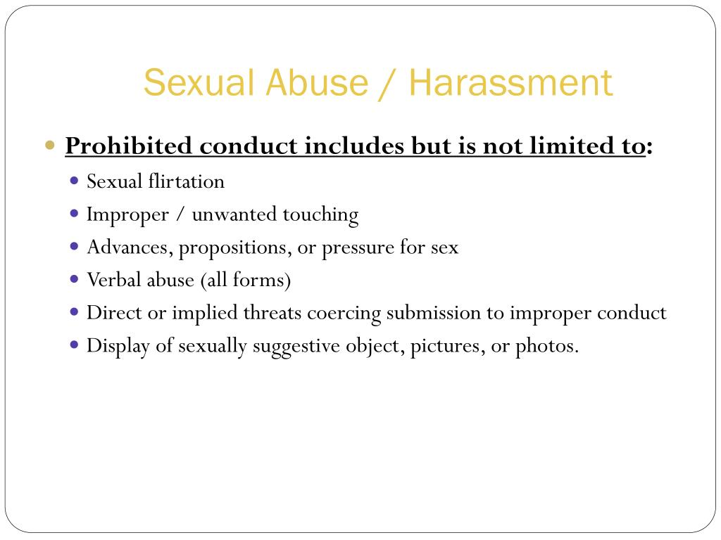 Sexual Abuse / Harassment