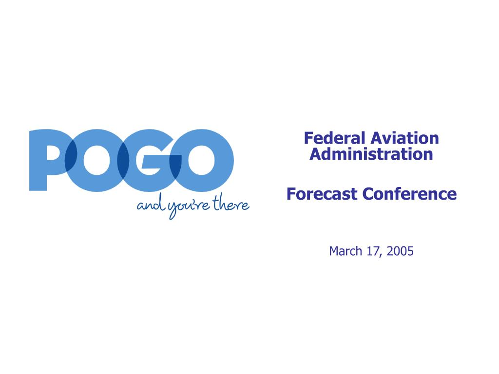 federal aviation administration forecast conference march 17 2005 l.