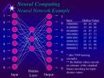neural computing neural network example
