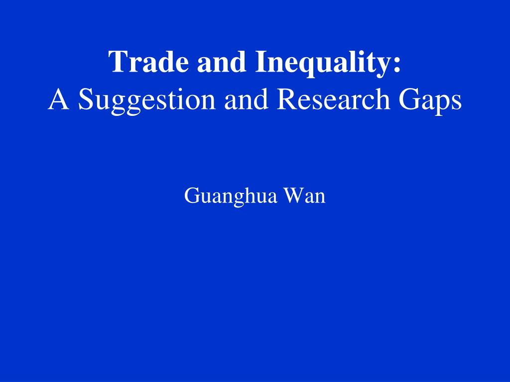 Trade and Inequality: