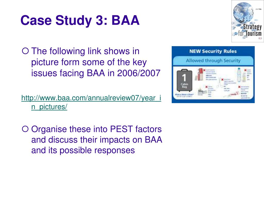 The following link shows in picture form some of the key issues facing BAA in 2006/2007