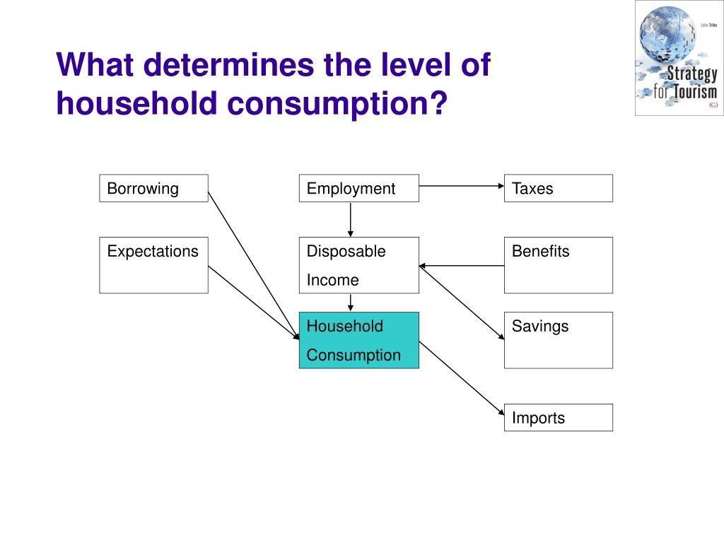 What determines the level of household consumption?