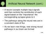 artificial neural network cont26
