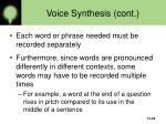 voice synthesis cont