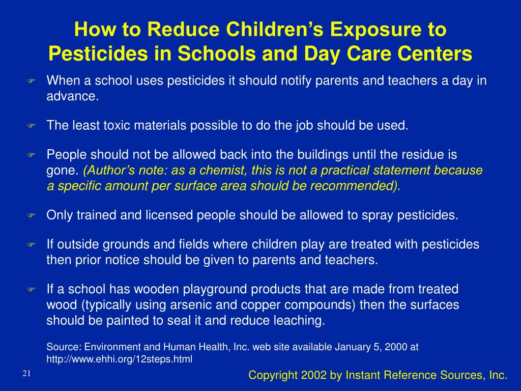 How to Reduce Children's Exposure to