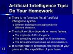 artificial intelligence tips do your homework