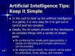 artificial intelligence tips keep it simple