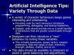 artificial intelligence tips variety through data