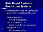 rule based systems production systems77