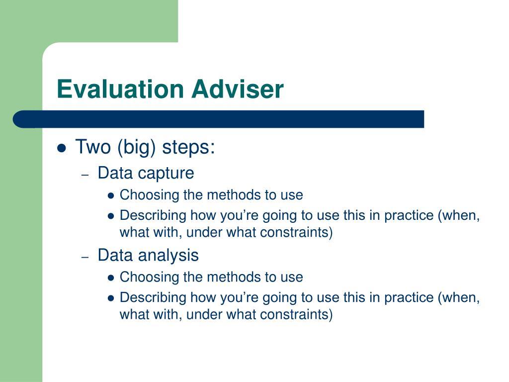 Evaluation Adviser