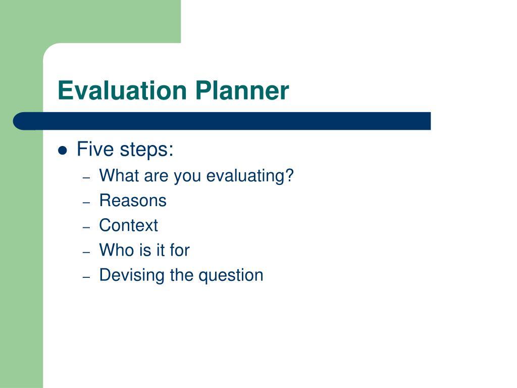Evaluation Planner