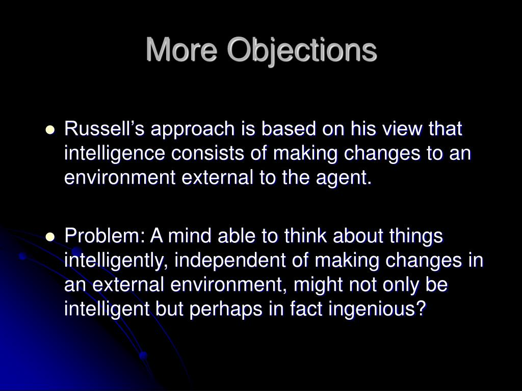 More Objections