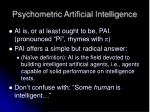 psychometric artificial intelligence