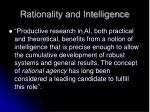 rationality and intelligence