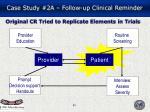 original cr tried to replicate elements in trials
