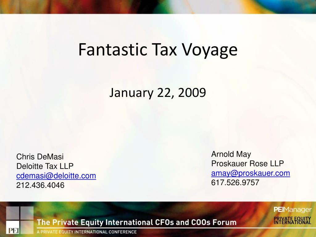 fantastic tax voyage january 22 2009
