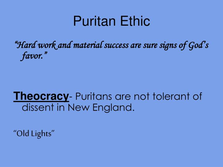 Puritan ethic
