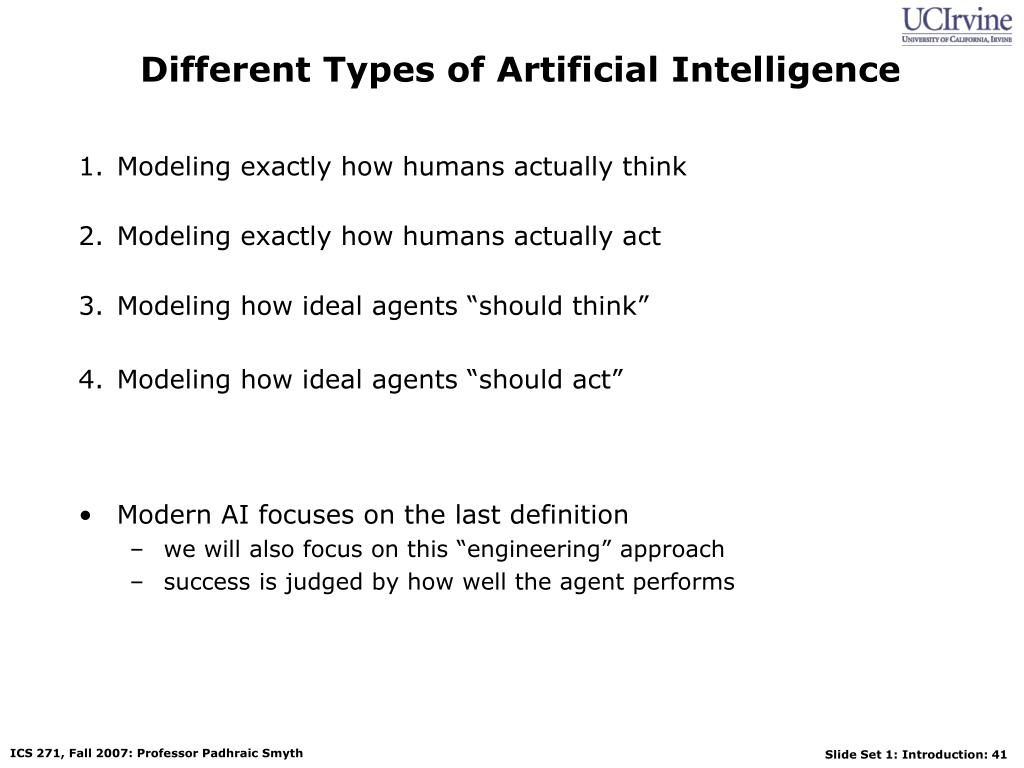 Different Types of Artificial Intelligence