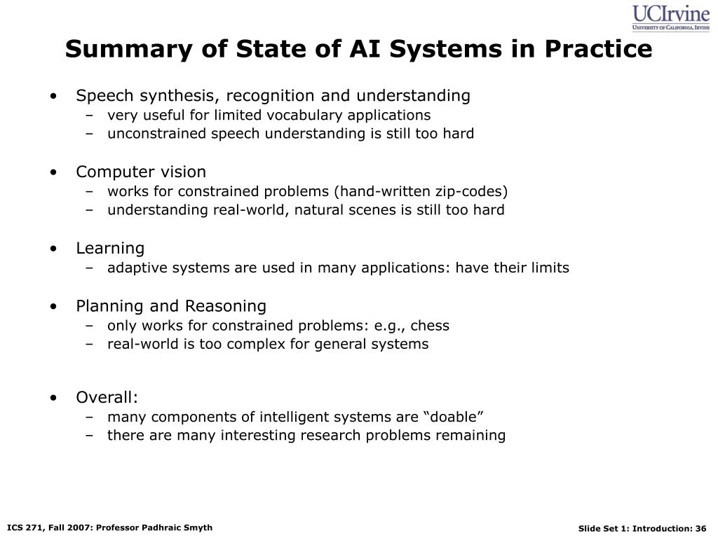 Summary of State of AI Systems in Practice