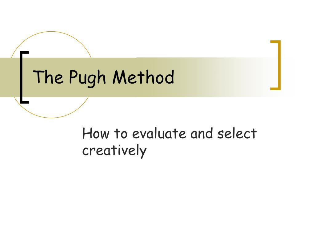 the pugh method l.