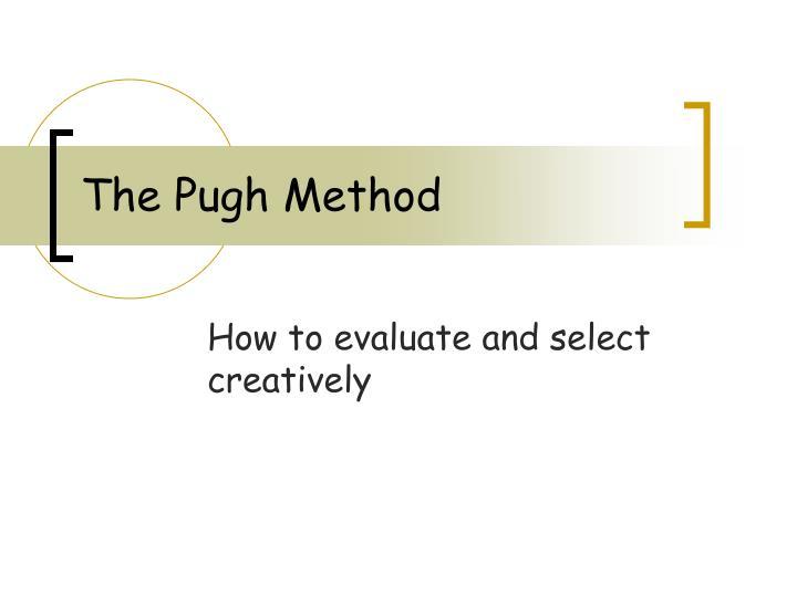 the pugh method n.