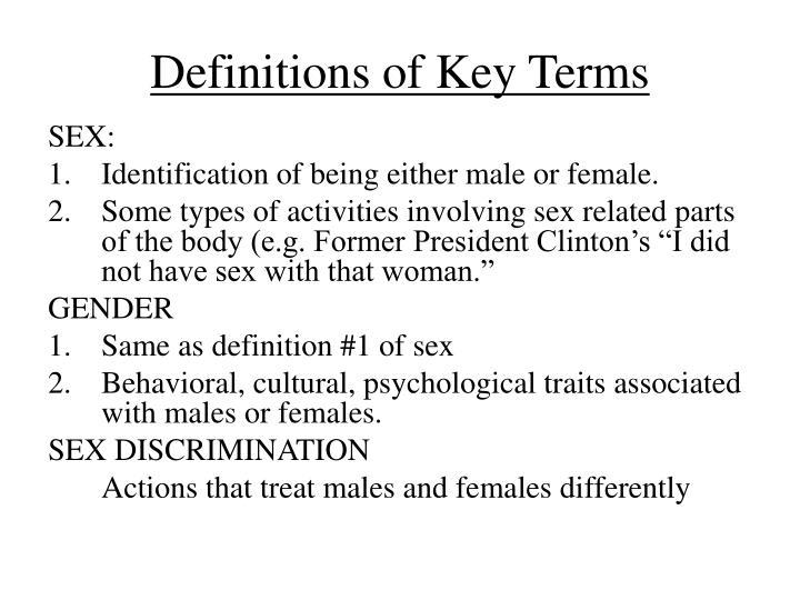 Types of sex discrimination