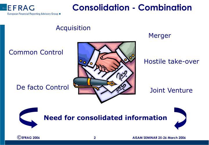 Consolidation combination