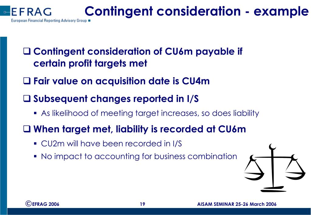 Contingent consideration - example