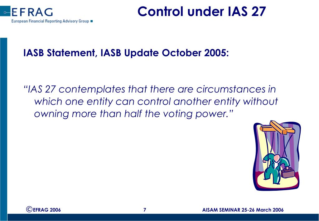 Control under IAS 27