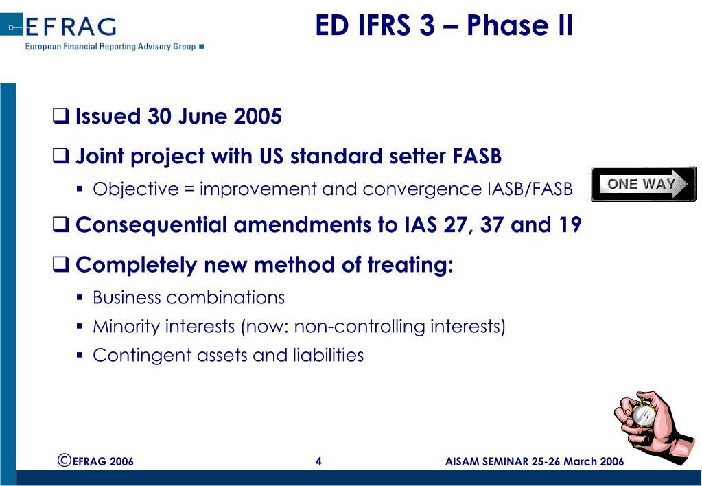 ED IFRS 3 – Phase II