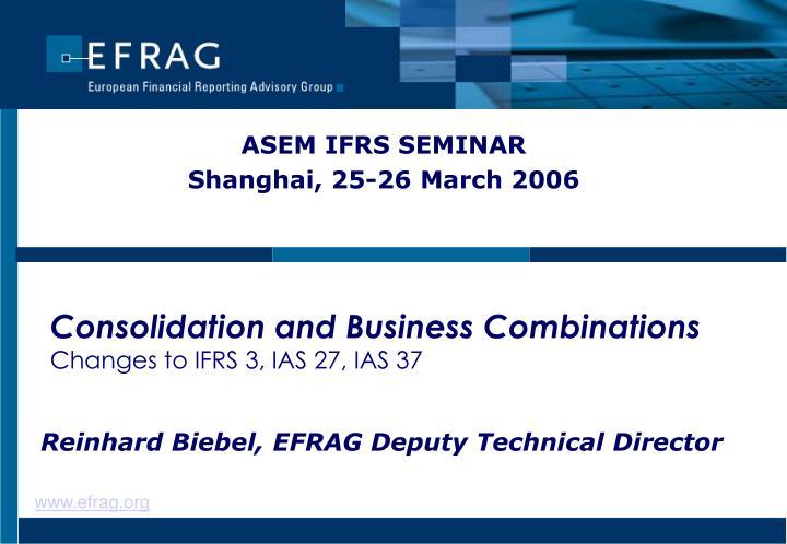 ASEM IFRS SEMINAR