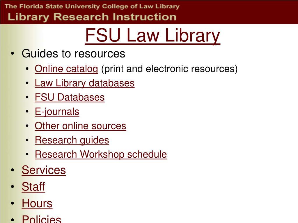 FSU Law Library