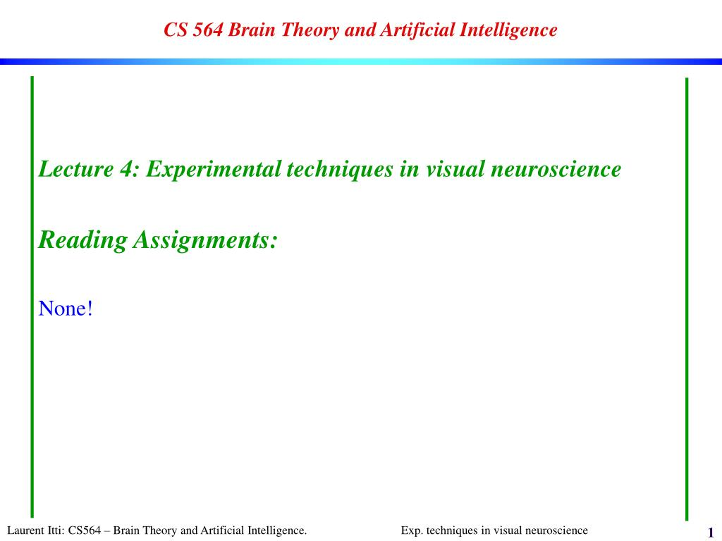 cs 564 brain theory and artificial intelligence l.